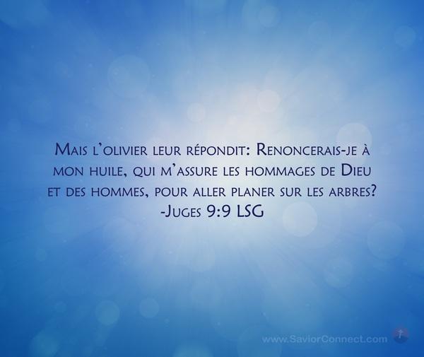 Juges 9:9 LSG