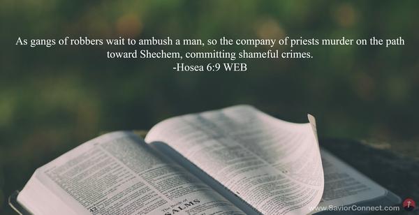 Hosea 6:9 WEB